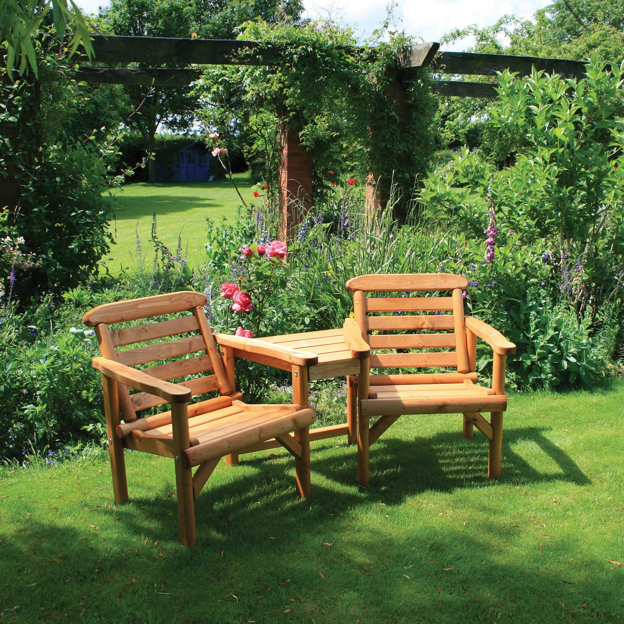 Garden Furniture Love Seat two seater garden bench - zandalus