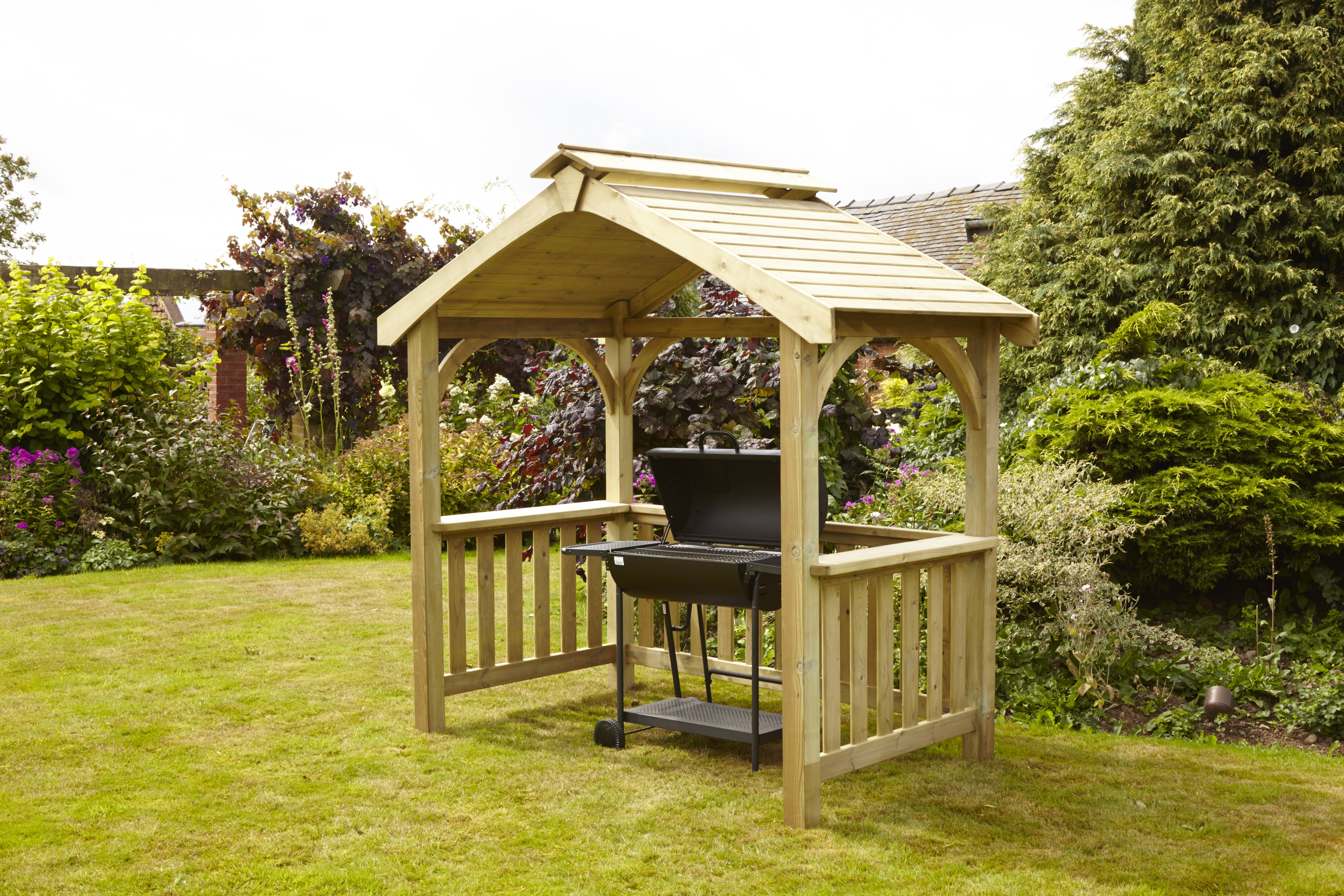Anchor Fast Devon BBQ Wooden Shelter - Simply Wood