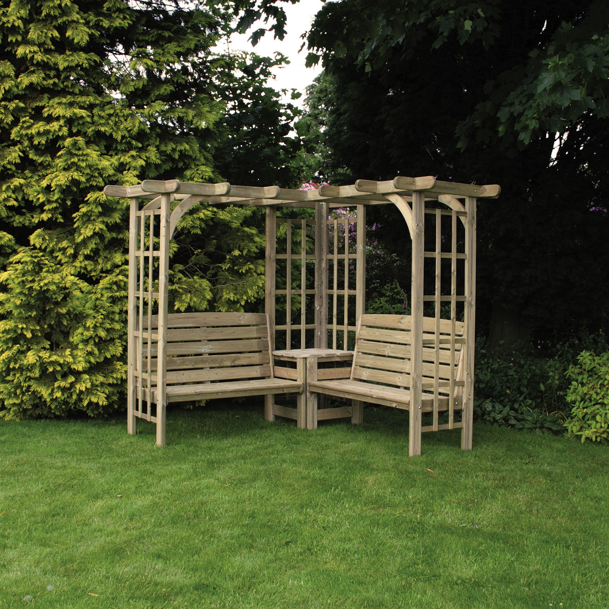 Anchor Fast Devon Corner Arbour - Simply Wood