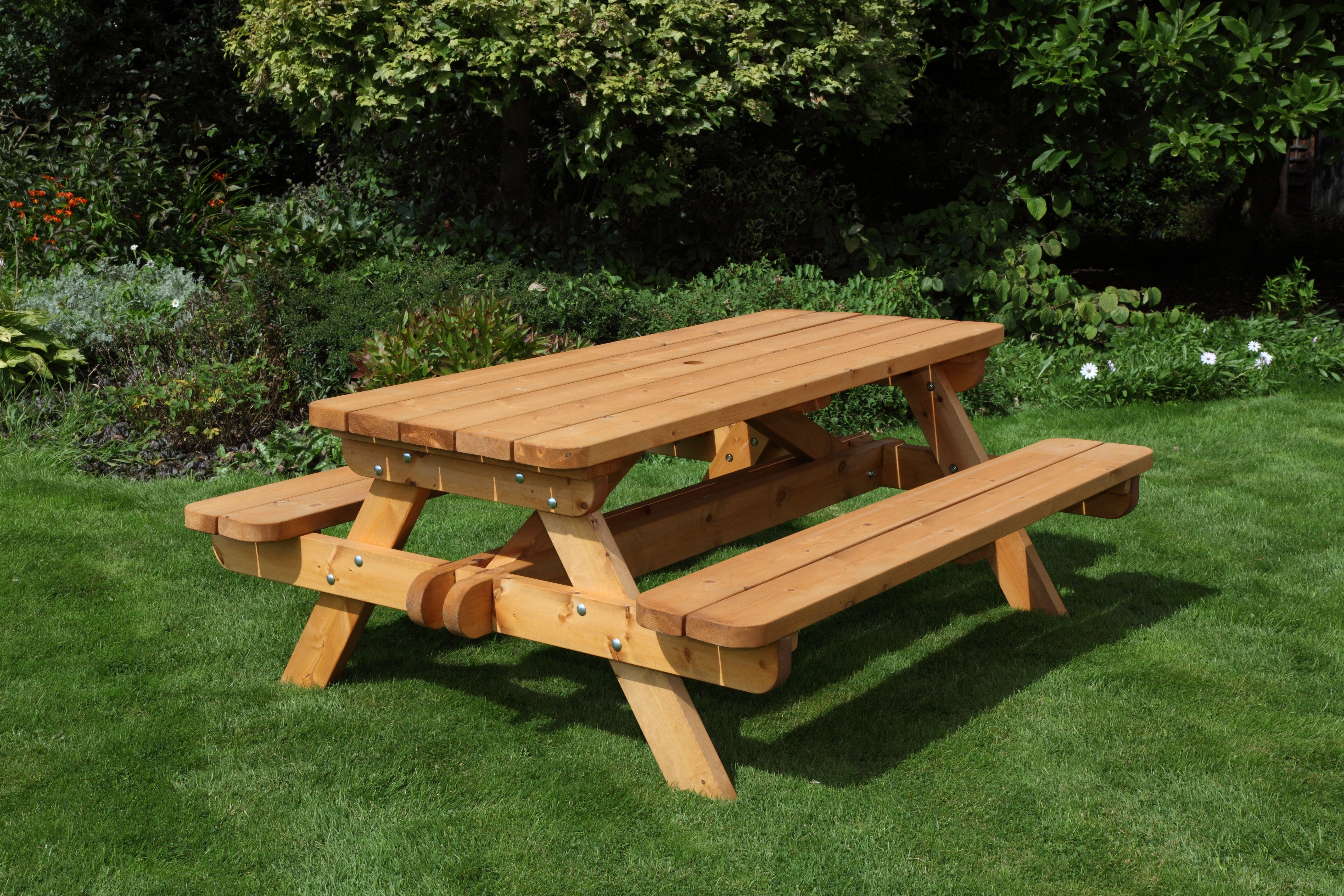 Anchor Fast Somerset Whopper Picnic Bench Simply Wood - Picnic table anchors