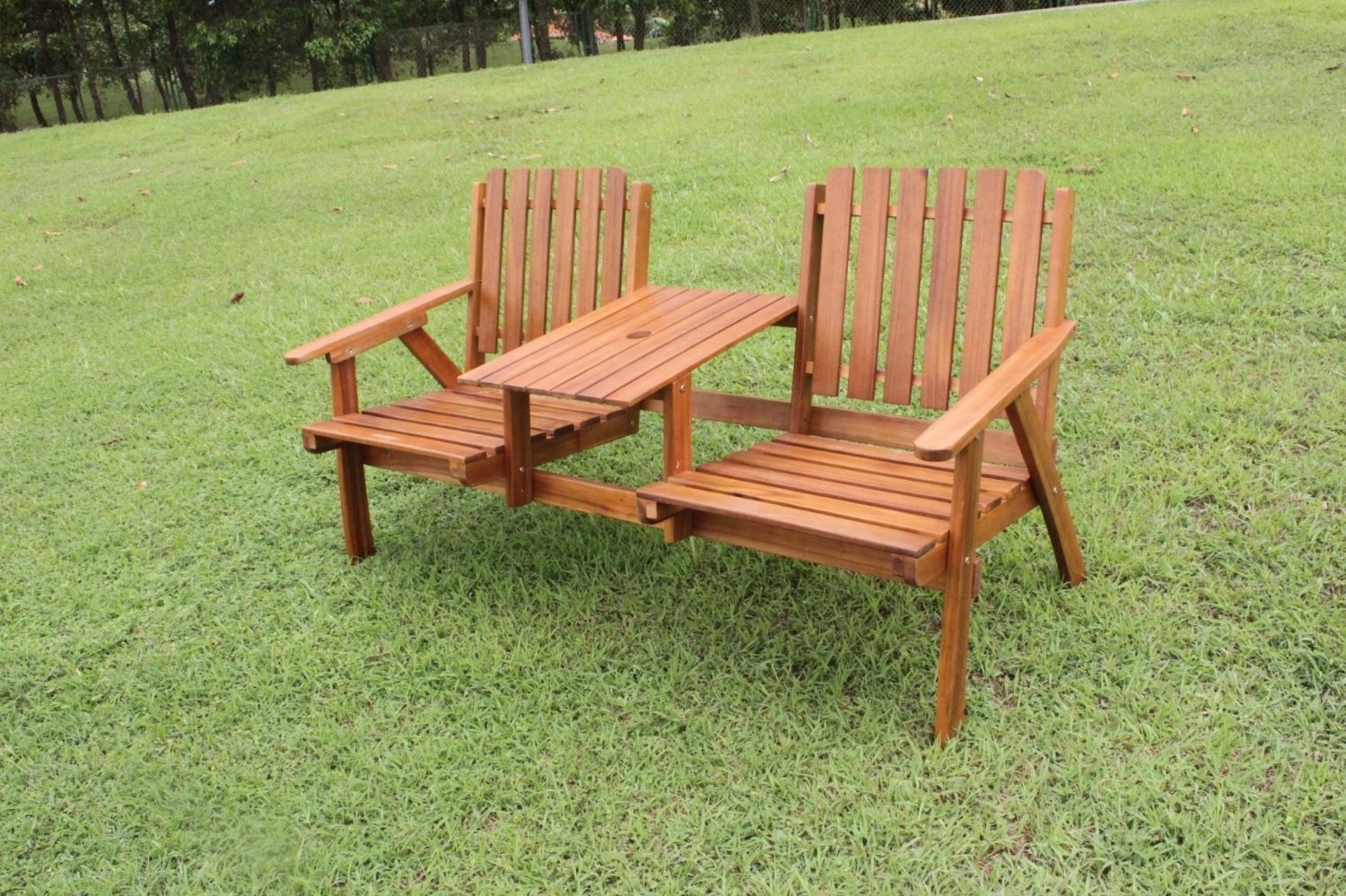 Tete a tete 2 seater love seat simply wood for Garden love seat uk