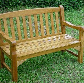 Solid Oak Garden Bench - 2 Seater (4Ft)