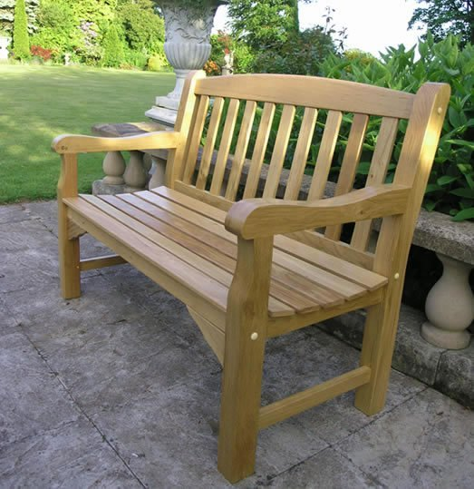 Hokku Designs Revionna Two Seat Bench With Storage: Solid Oak Garden Bench