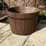 Premium Wine Barrel Planter - Extra Large