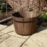 Premium Wine Barrel Planter - Large