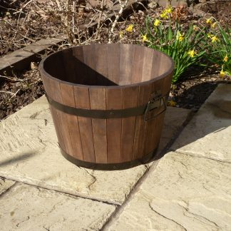 Premium Wine Barrel Planter - Medium
