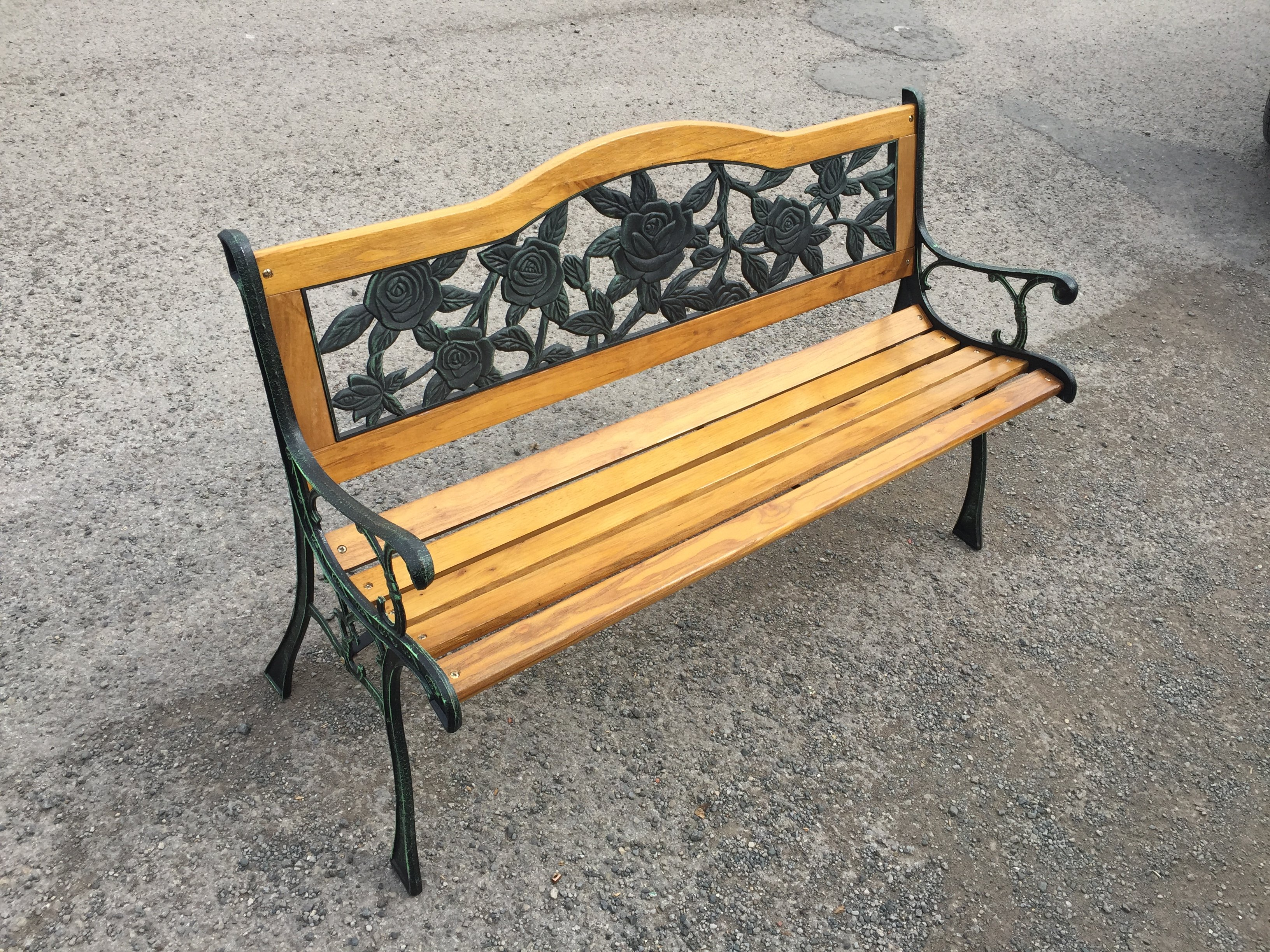 New Year fer Oxford 2 Seater Garden Bench Simply Wood