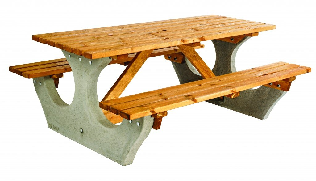 Concrete The Big Bench 8 Seater Simply Wood