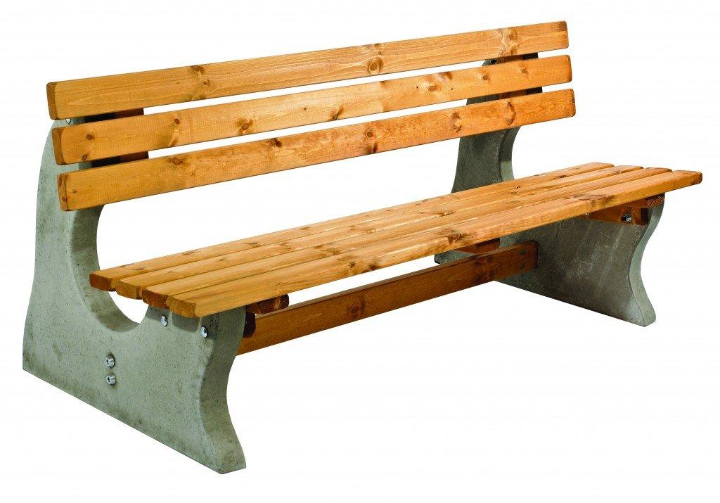 Concrete Park Bench Simply Wood
