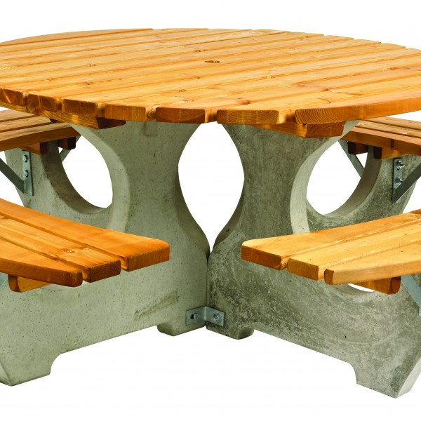 9500027 ROOUND PICNIC TABLE