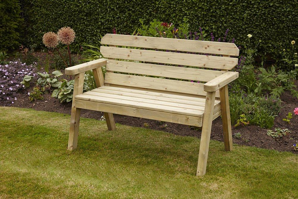 Woodshaw Hampton 4ft Bench 2 Seater Simply Wood