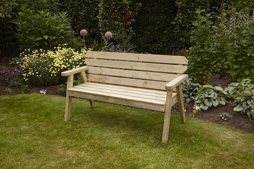 Anchor Fast Exmouth 5ft Bench 3 Seater Simply Wood
