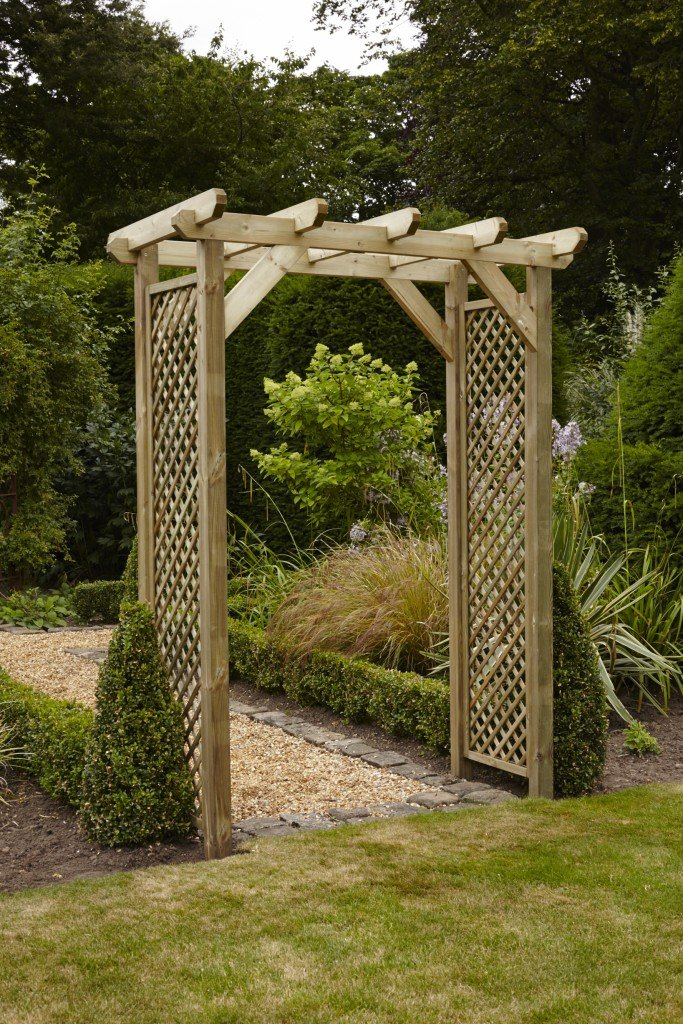 Anchor Fast Squared Lattice Arch Simply Wood