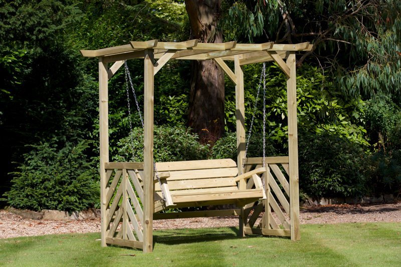 Woodshaw Hampton Swing Arbour Simply Wood