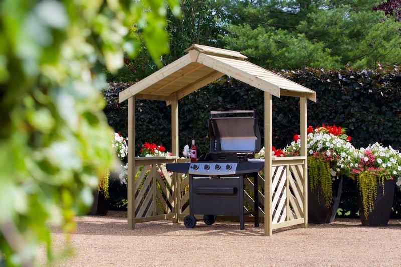 Woodshaw Hampton Bbq Wooden Shelter Simply Wood