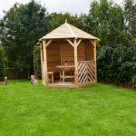 Anchor Fast Sandringham Gazebo with Table & 5 Benches - Solid Side