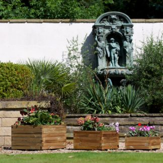 Alnwick Square Planters – Set of 3 – HALF PRICE SALE !!!