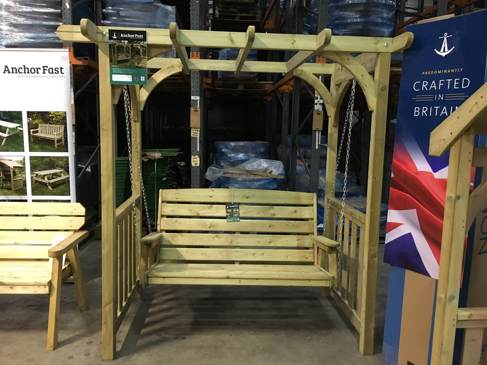 Wood Swing Sets >> Anchor Fast Devon Swing Arbour - Simply Wood
