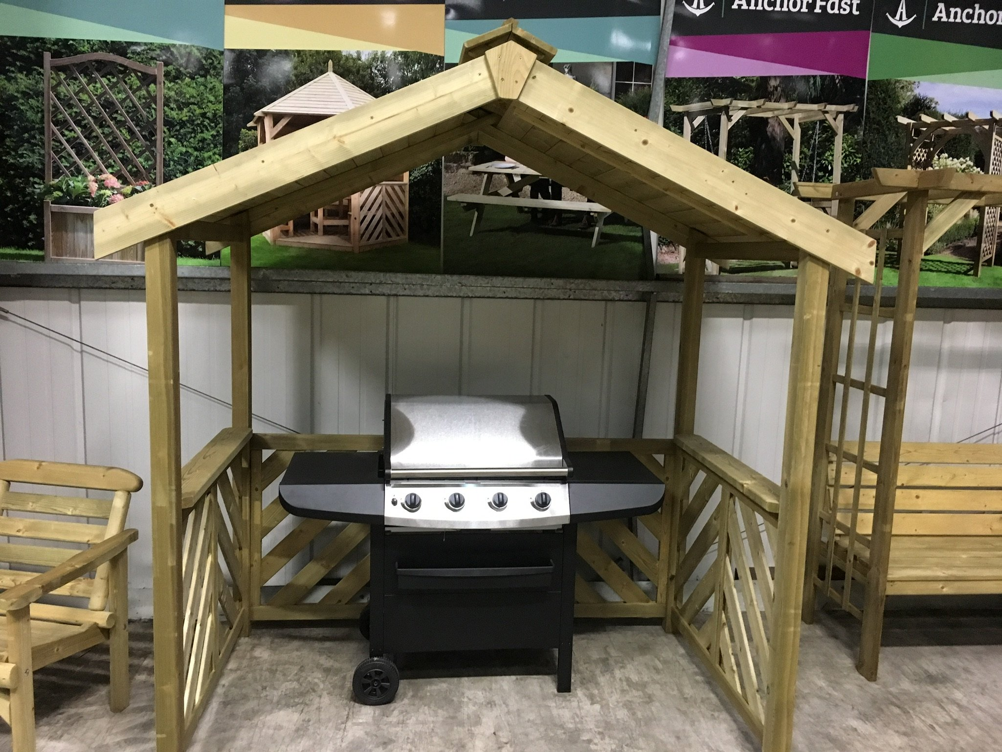 Anchor Fast Exmouth Bbq Wooden Shelter Simply Wood