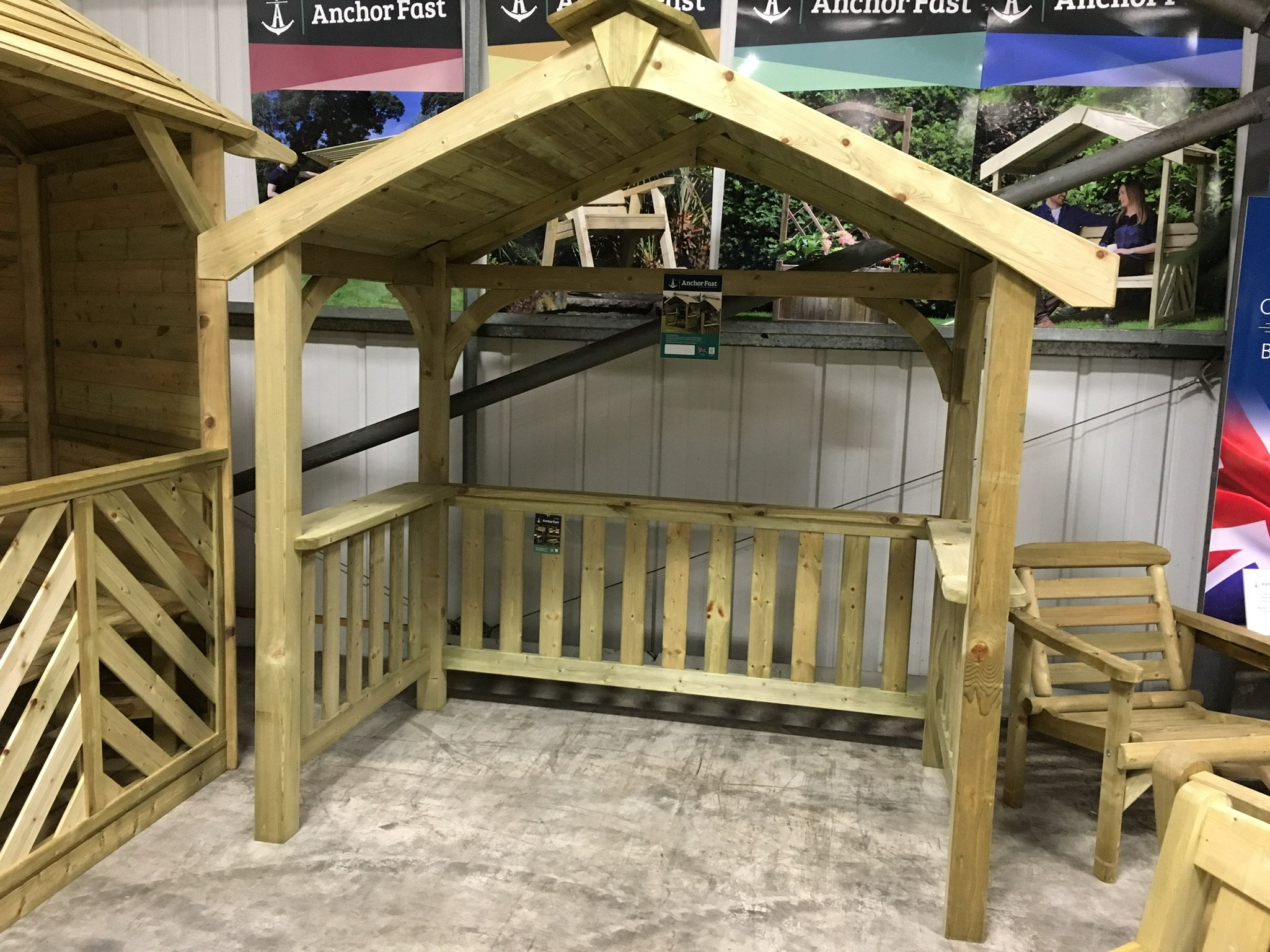 Anchor Fast Devon Bbq Wooden Shelter Simply Wood