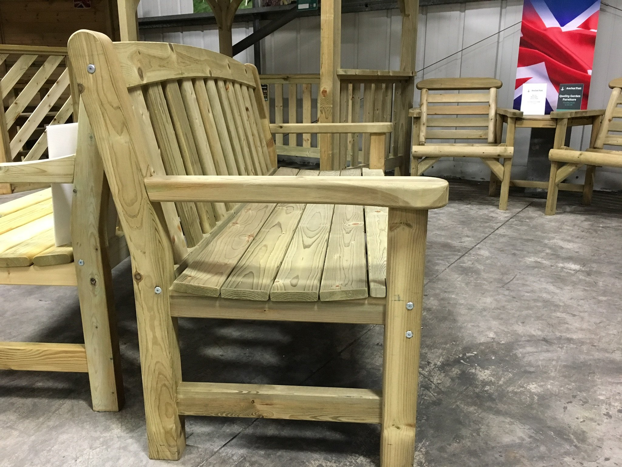Anchor Fast Sidmouth 2 Seater Bench Simply Wood