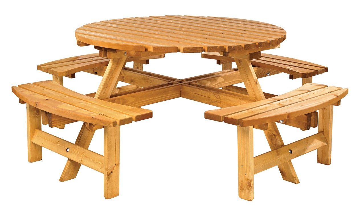 Anchor Fast Elegance Round Picnic Bench HALF PRICE SALE SALE - Picnic table anchors