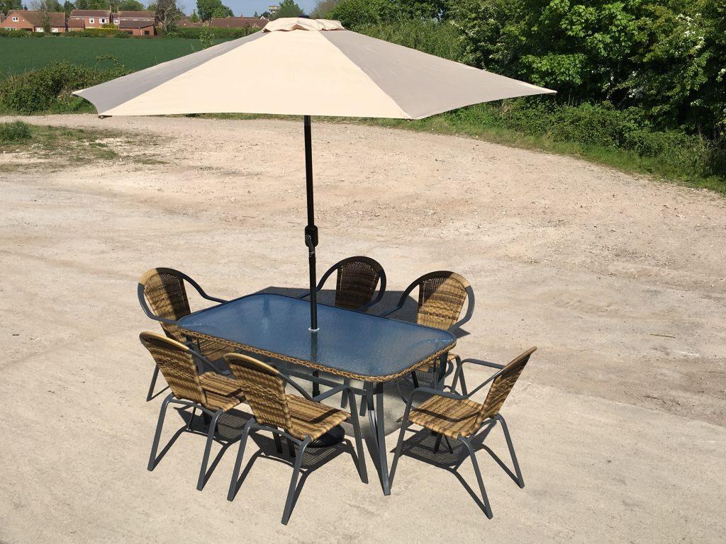 Petworth 6 Seater Rectangular Patio Dining Set