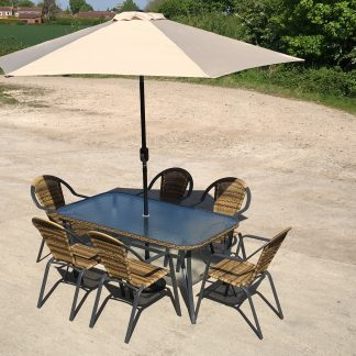 Petworth - 6 Seater Rectangular Patio Dining Set - !!! HALF PRICE OFFER !!!