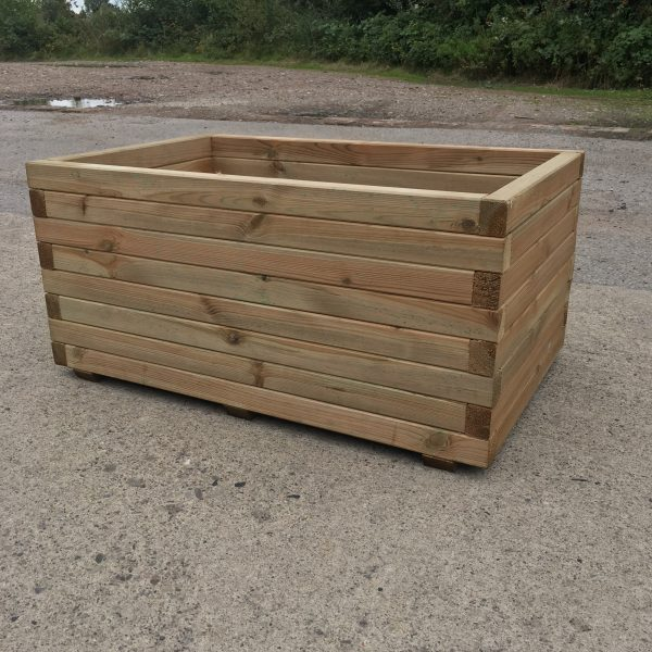 High Quality Tanalised Pressure Treated Trough Planter Extra Large Half Price Sale