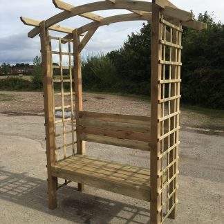Simply Wood Elegance Curved Roof Arbour - !!! HALF PRICE SALE !!!