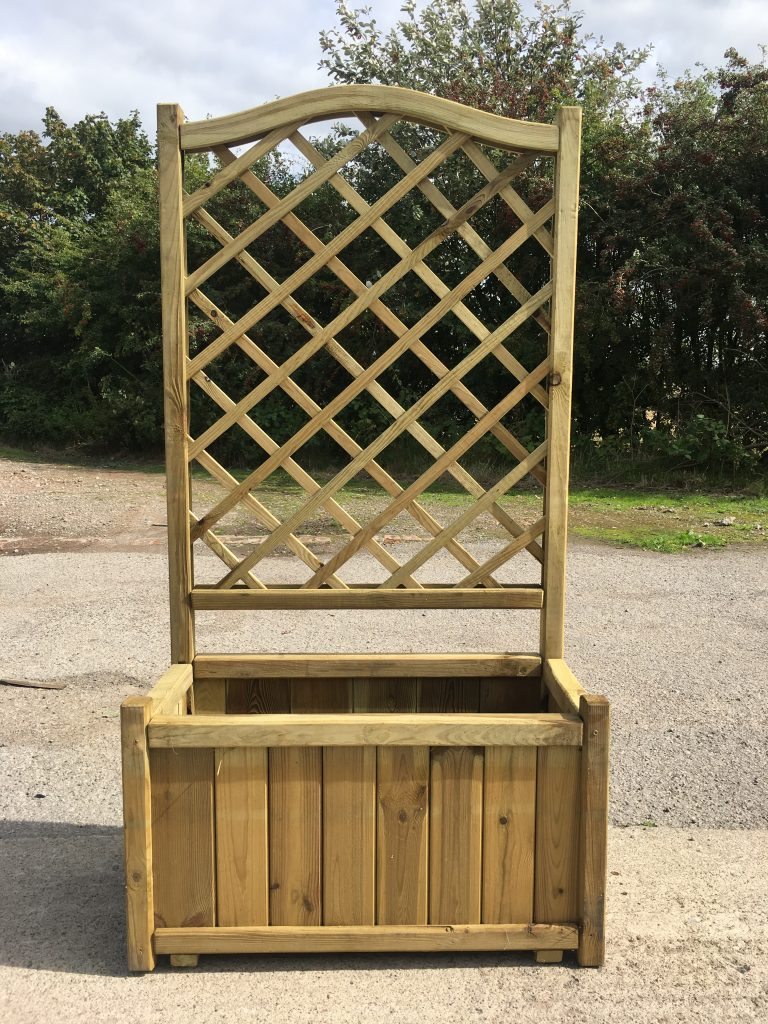 Melrose Large Planter With Trellis Simply Wood