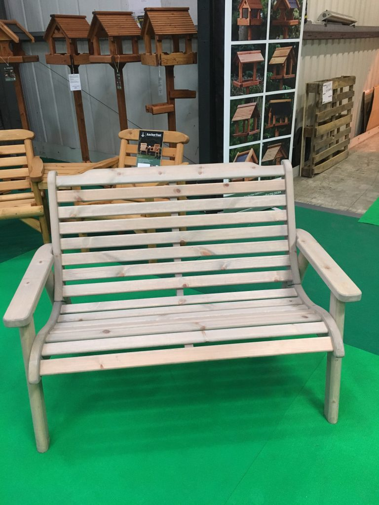 Anchor Fast Padstow 2 Seater Bench Simply Wood