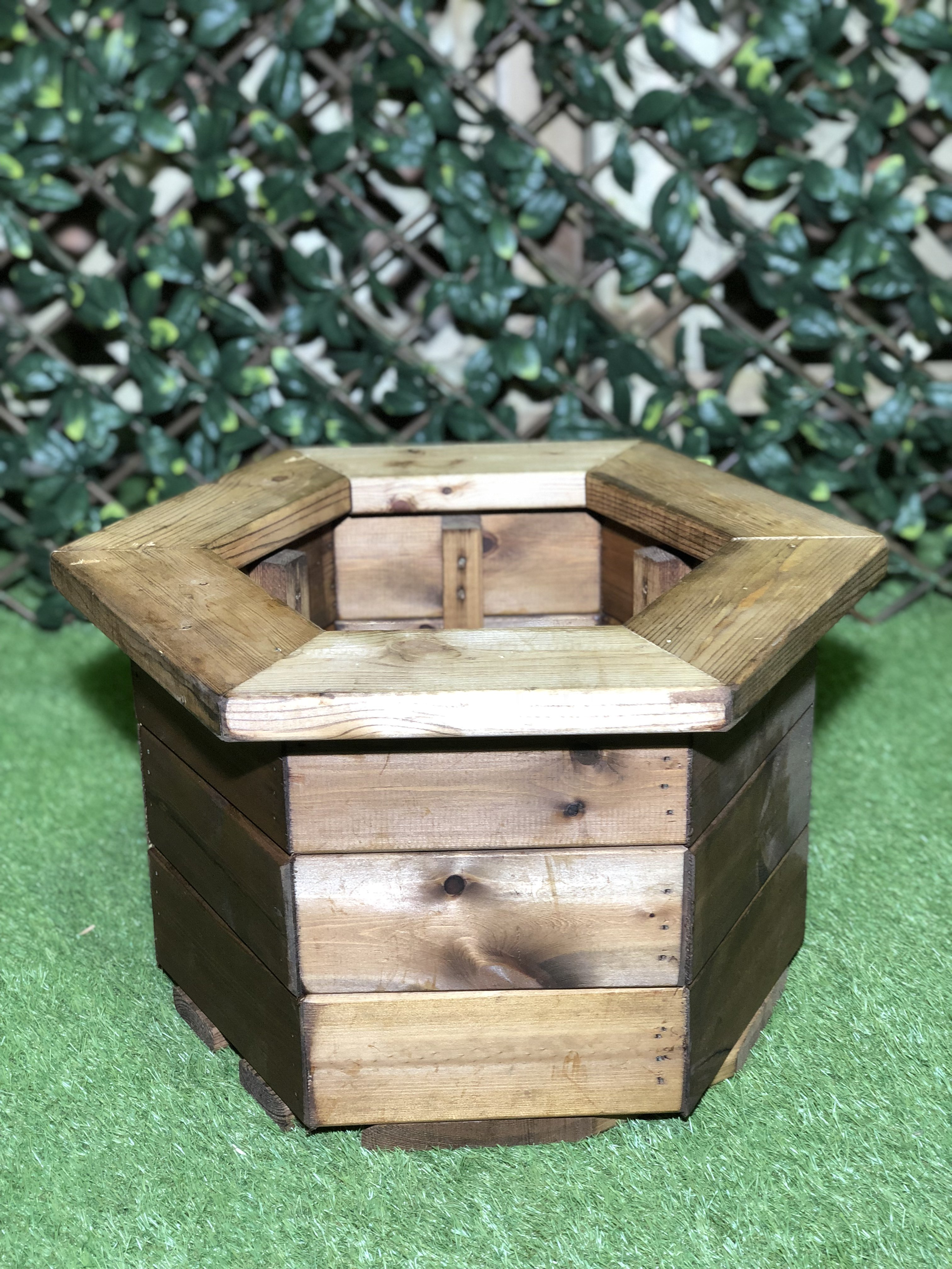 High Quality Stained Hexagon Planter Large Half Price