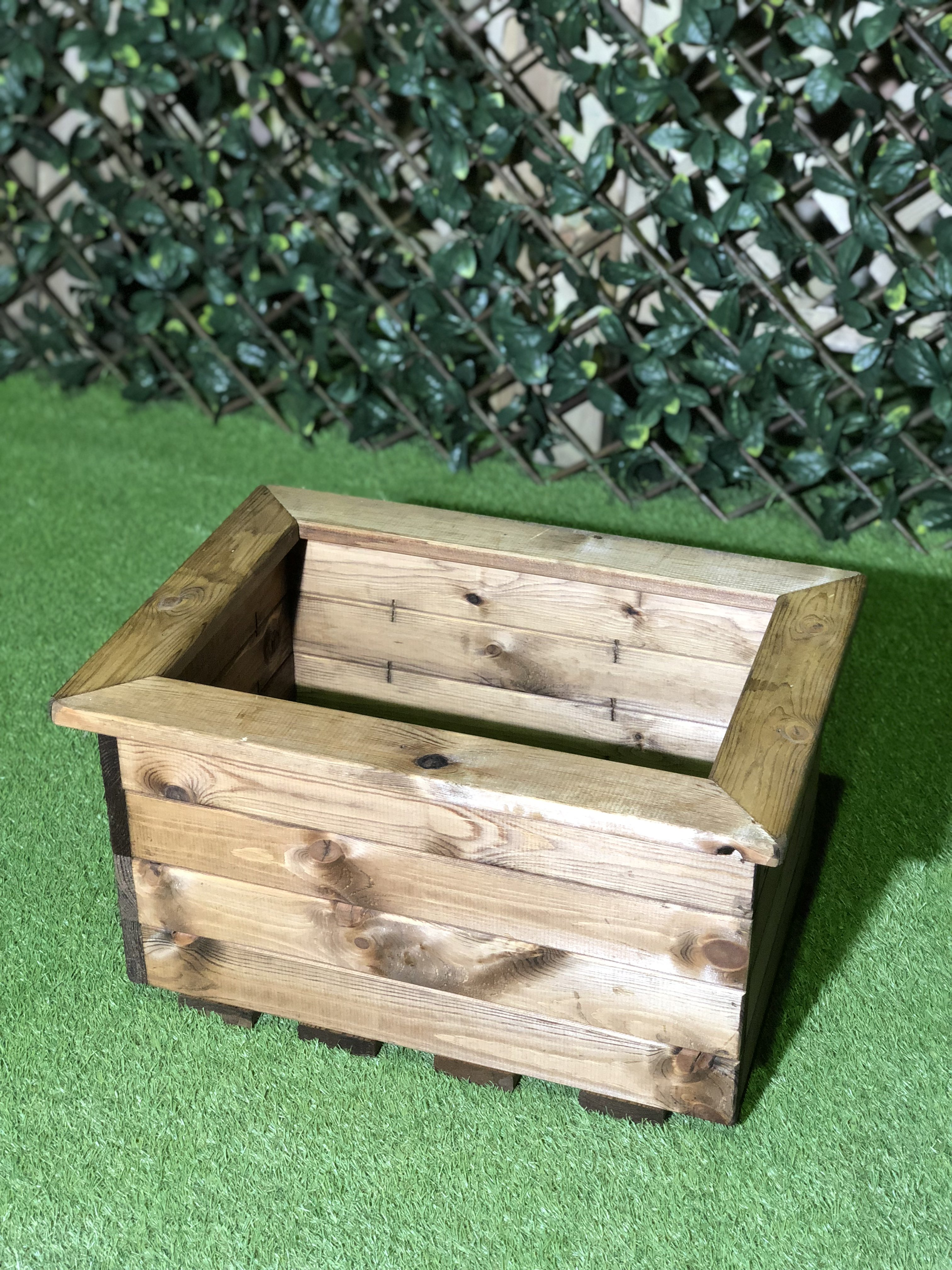 High Quality Stained Trough Planter Large Half Price