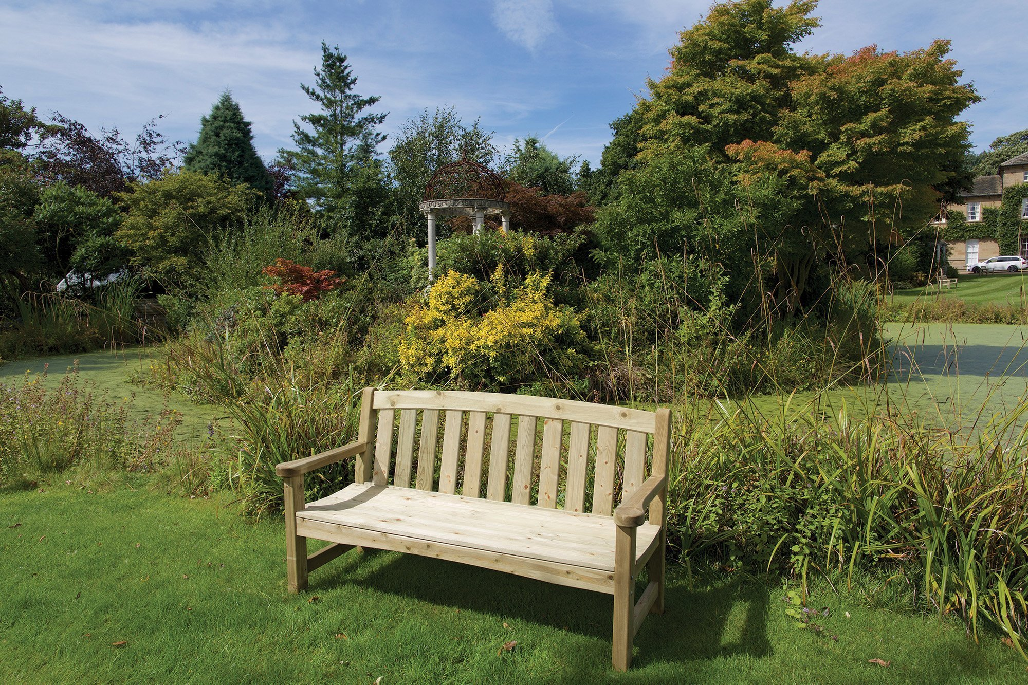 Woodshaw Emsworth 2 Seater Bench Simply Wood