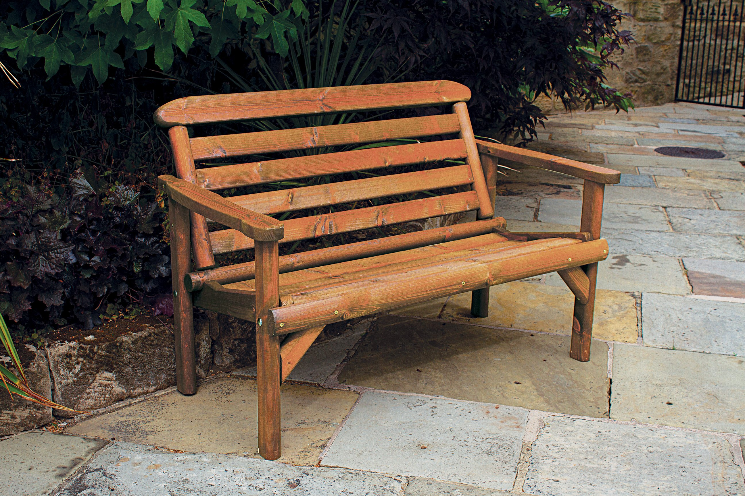 Woodshaw Thornton Rustic Bench 4ft 2 Seater Simply Wood