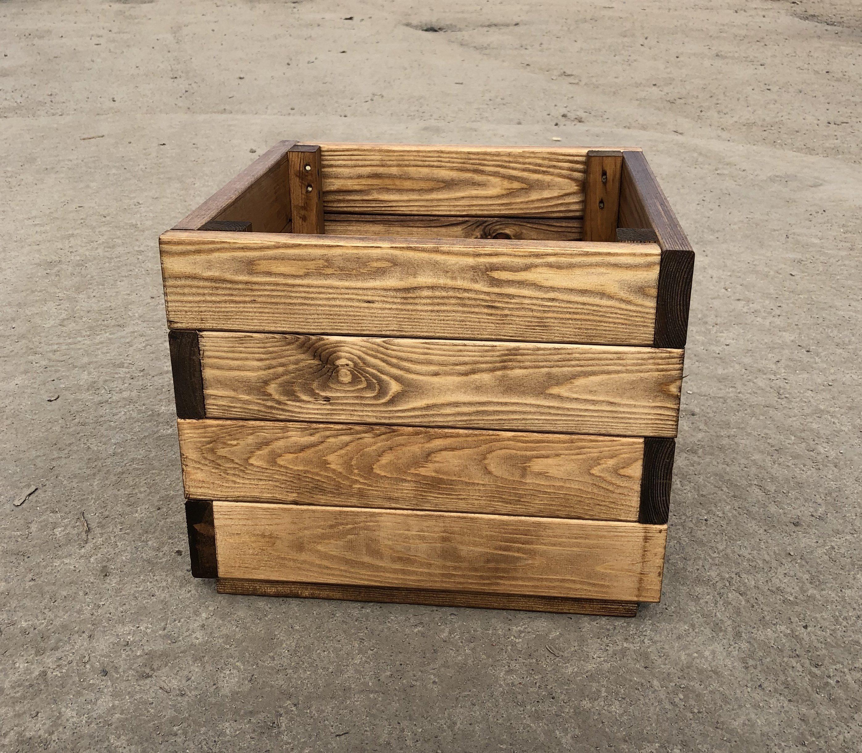 Premium Square Wooden Garden Planter Large Sale