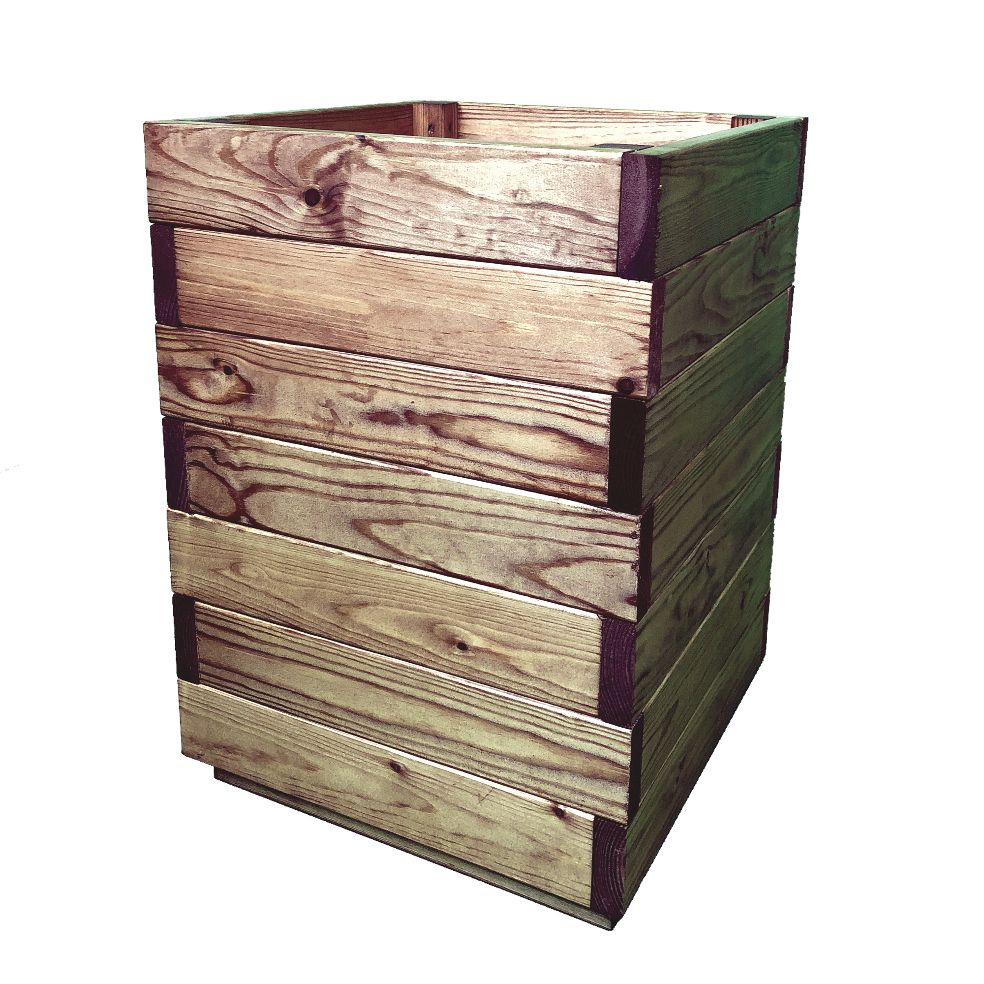 Premium Tall Square Wooden Garden Planter Extra Large