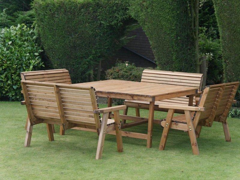 Churchill 8 Seater Garden Patio Set E - Simply Wood