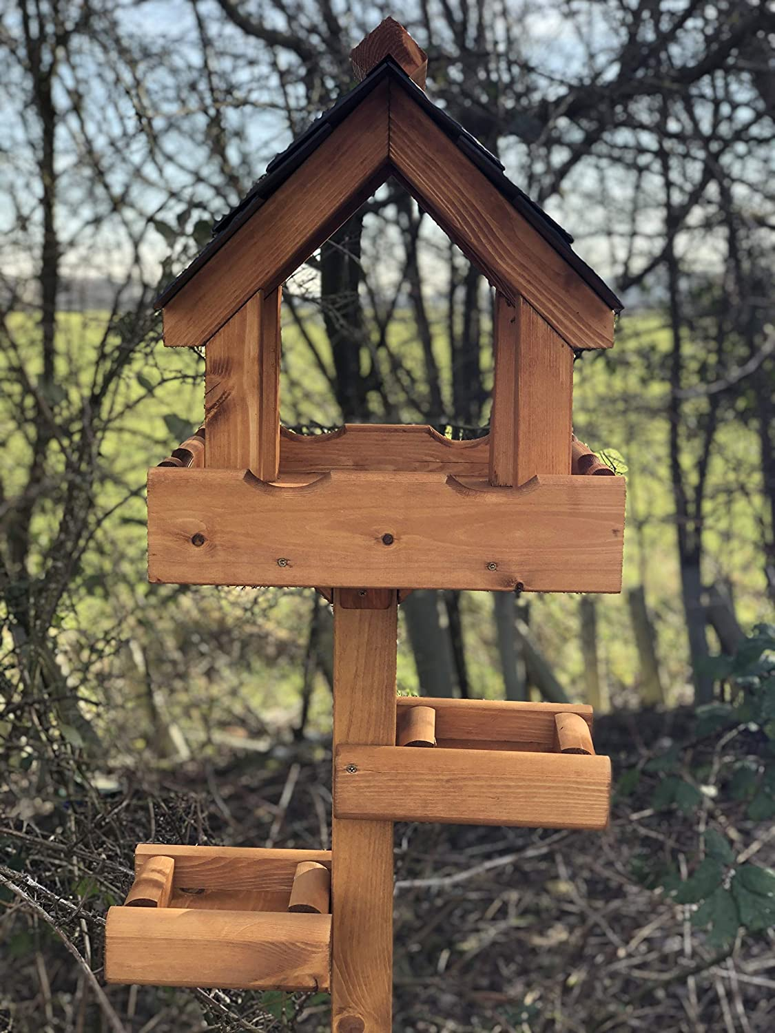 Simply Wood Imperial Bird Table with Slate Effect Roof ...
