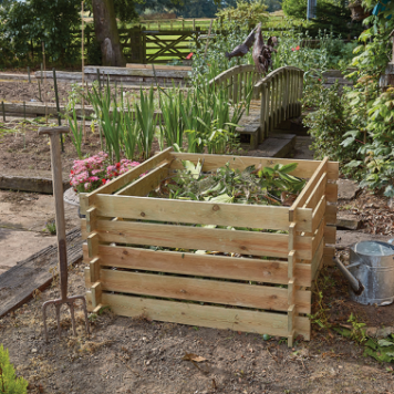 SIMPLY WOOD WOODEN COMPOSTER